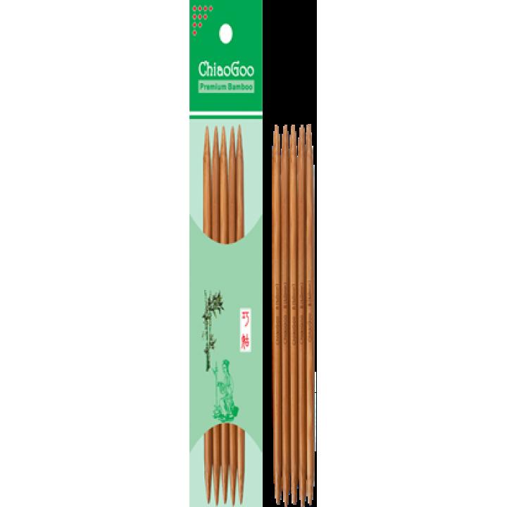 Спицы 15 см чулочные бамбуковые ChiaoGoo