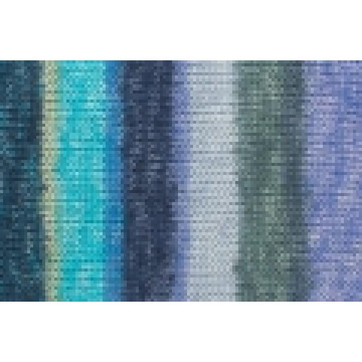 Пряжа Gruendl Hot Socks Madena 6-fach, 75% шерсть (superwash), 25% полиамид, цвет 08 baltic-sea-mix