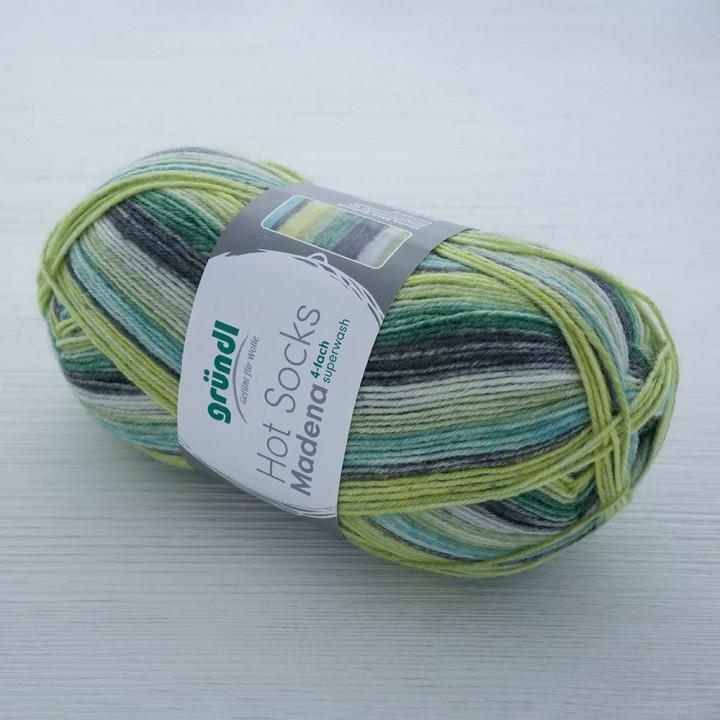 Gruendl Hot Socks Madena 4-fach цвет 02 neptun-color-mix