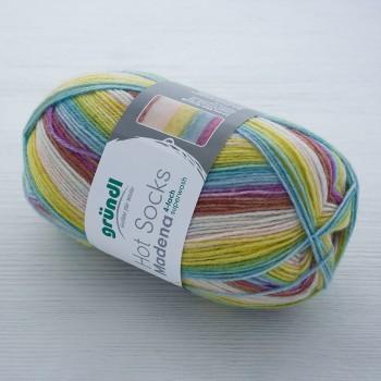 Gruendl Hot Socks Madena 4-fach цвет 01 caribean-summer