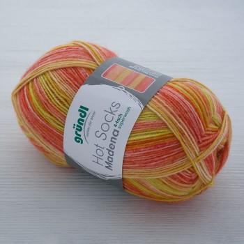 Gruendl Hot Socks Madena 4-fach цвет 06 sunrise