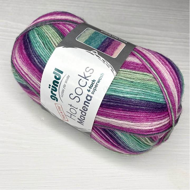 Gruendl Hot Socks Madena 4-fach цвет 07 berry-lagune